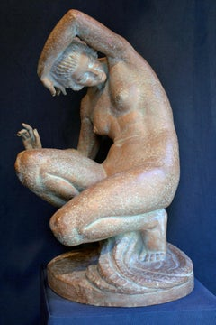 Sculpture Terracotta Female Nude From Marcel Bouraine (1886-1948)