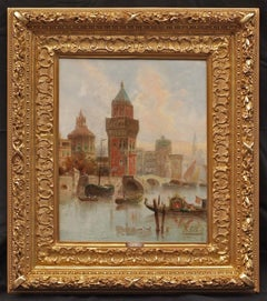 View of FLORENCE Italy - Painting 19th Century