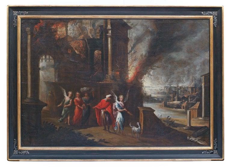The Flight of Sodom and Gomorrah - Entourage of Monsu-Desiderio