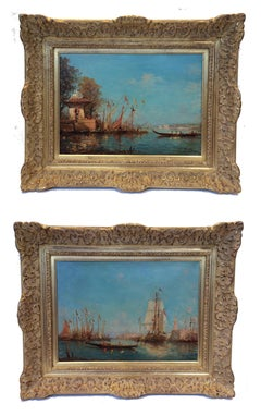 Views of Venice And Istambul in Pair - 19th century Paintings