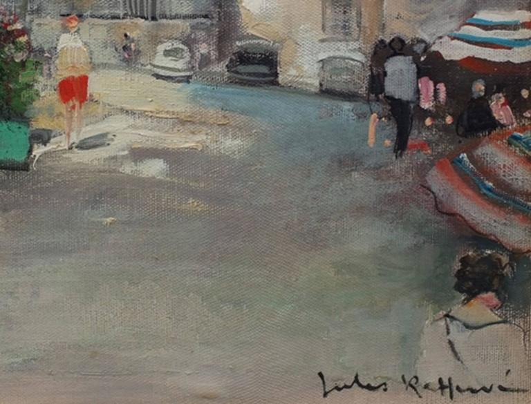 Painting 20th Century Post Impressionist Paris Montmartre For Sale 1