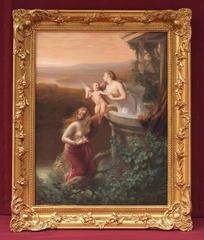 Painting 19th Century Academic Antiquity and Symbolist Subject