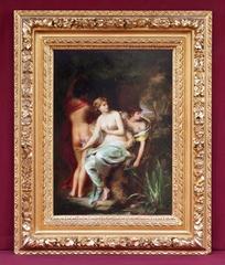 Painting 19th Century Symbolist Portrait Nude Women Nymphs