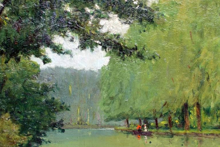 Painting 19th Century Landscape French Countryside Postimpressionist For Sale 2