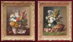 Paintings 19th Century Still Life Fruits And Flowers