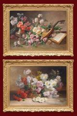 Emile Godchaux - Paintings 19th Century Flowers Still life