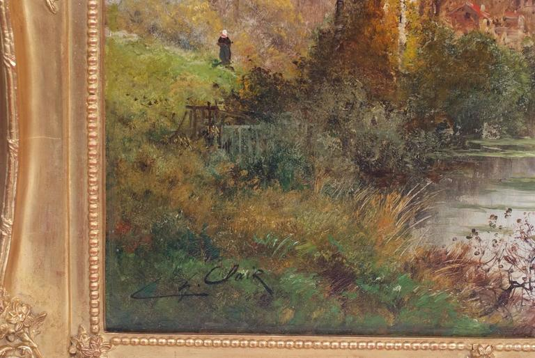 Painting 19th Century Landscape French Countryside Barbizon School For Sale 5