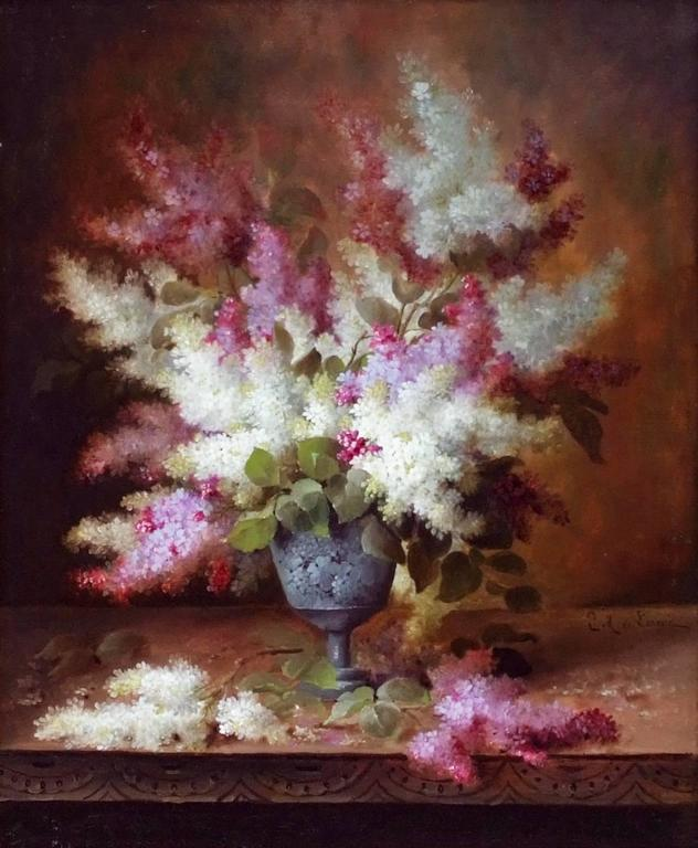 Painting 19th Century Flowers For Sale 6