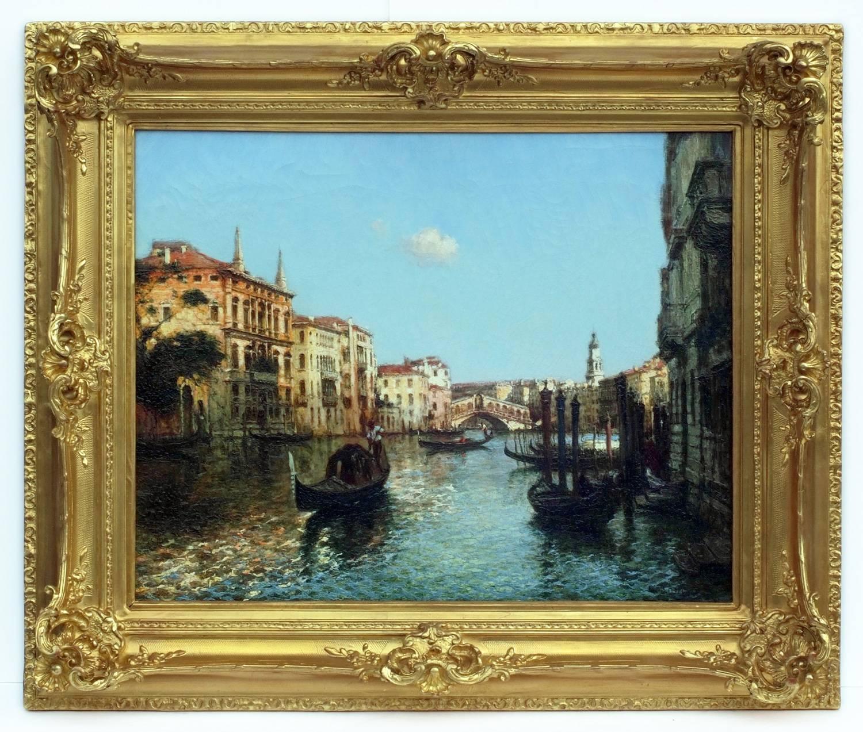 Painting Early 20th Century Venice Marine