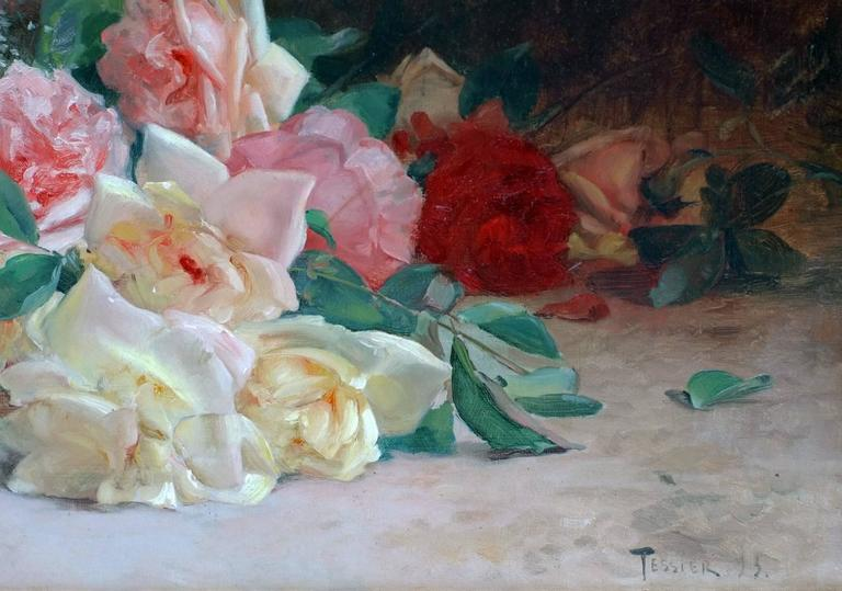 Painting 19th Century Flowers For Sale 1