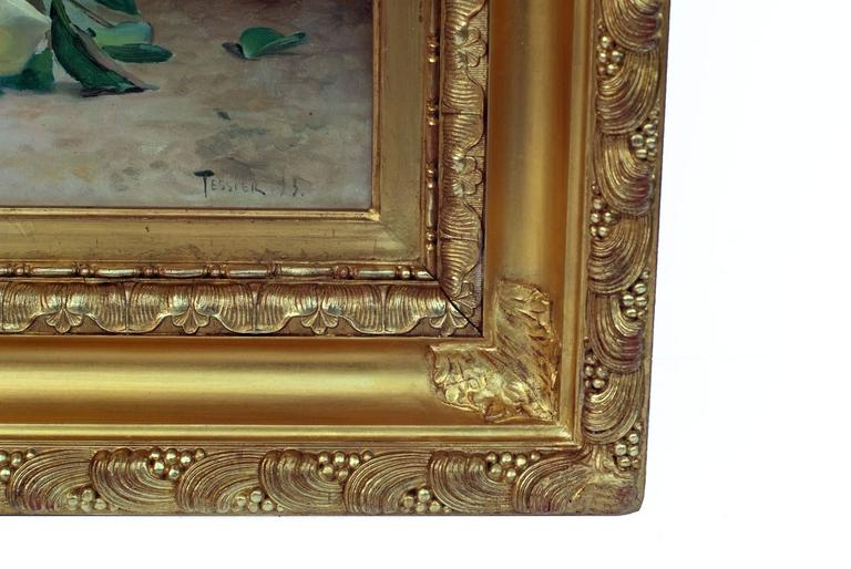 Painting 19th Century Flowers For Sale 3