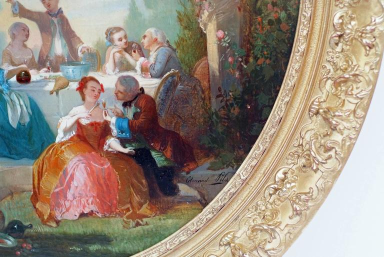 Painting 19th Century Genre Scenes showing 18th Century Period For Sale 2