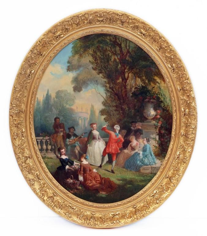 Painting 19th Century Genre Scenes showing 18th Century Period For Sale 3