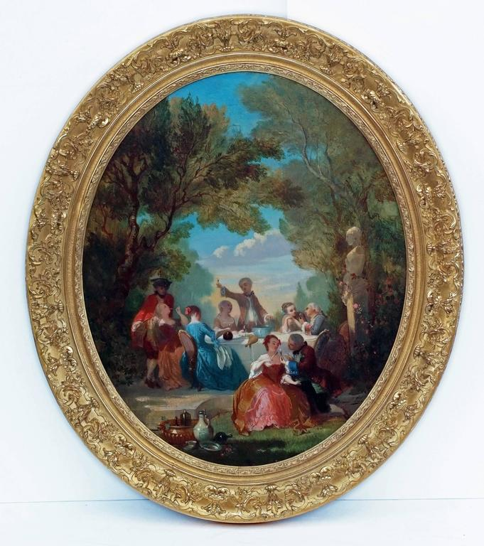 Painting 19th Century Genre Scenes showing 18th Century Period For Sale 5