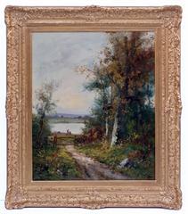 Painting 19th Century Landscape Barbizon School