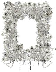 Floral Overgrowth on a Deserted Frame