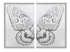 Rubem Robierb - Hybrid Silver Butterfly II on White