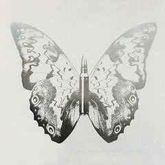 Silver Butterfly on White II