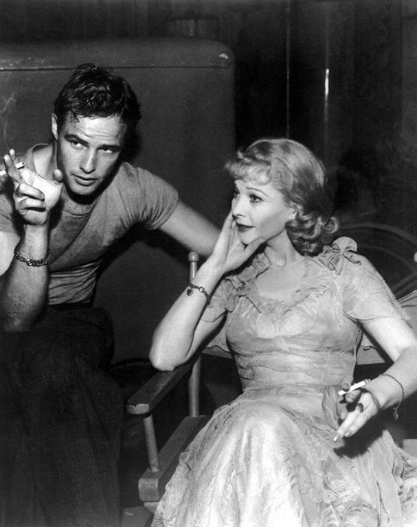 'Marlon Brando & Vivien Leigh Smoking On-Set'