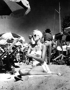 'Beach Babe Kelly Grace' (Silver Gelatin Print)