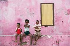 'Curacao Children' Antilles (Slim Aarons C-Print)
