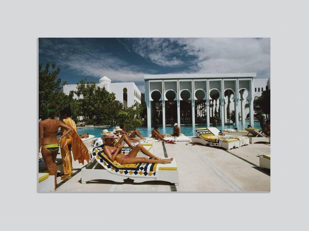 Slim Aarons   U0027Armandou0027s Beach Clubu0027 Acapulco (Chromaluxe Aluminium Print),  Photograph: For Sale At 1stdibs