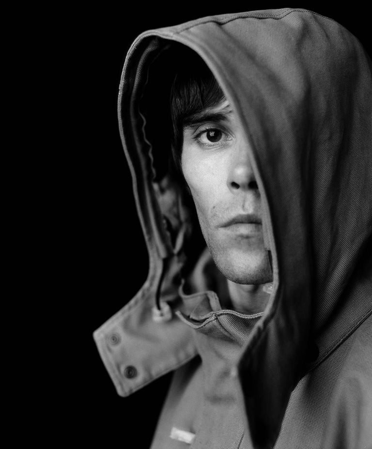 Jamie Beeden Black and White Photograph - 'Ian Brown Of The Stone Roses' (silver gelatin print Limited Edition)
