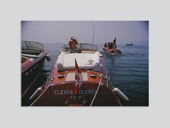 'Motorboats In Antibes' (Chromaluxe Aluminium Print)
