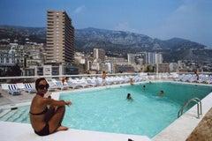 'Roof Top Pool'   Monte Carlo   (Slim Aarons Estate Print)