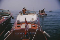 Slim Aarons Estate Print  'Motorboats In Antibes'