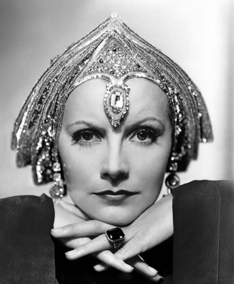 'Art Deco Greta Garbo' (Silver Gelatin Print)
