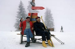 Skiing Holiday - Slim Aarons - Gstaad - 20th century colour photography