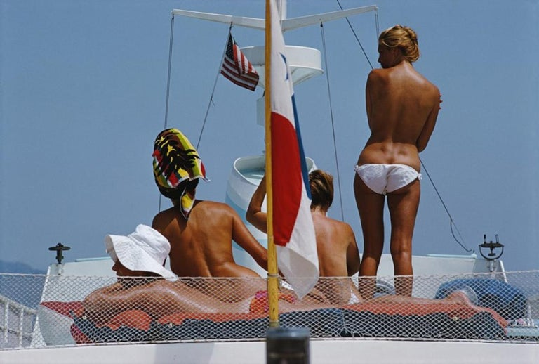 Slim Aarons Nude Photograph - 'Yacht Holiday' SLIM AARONS ESTATE EDITION
