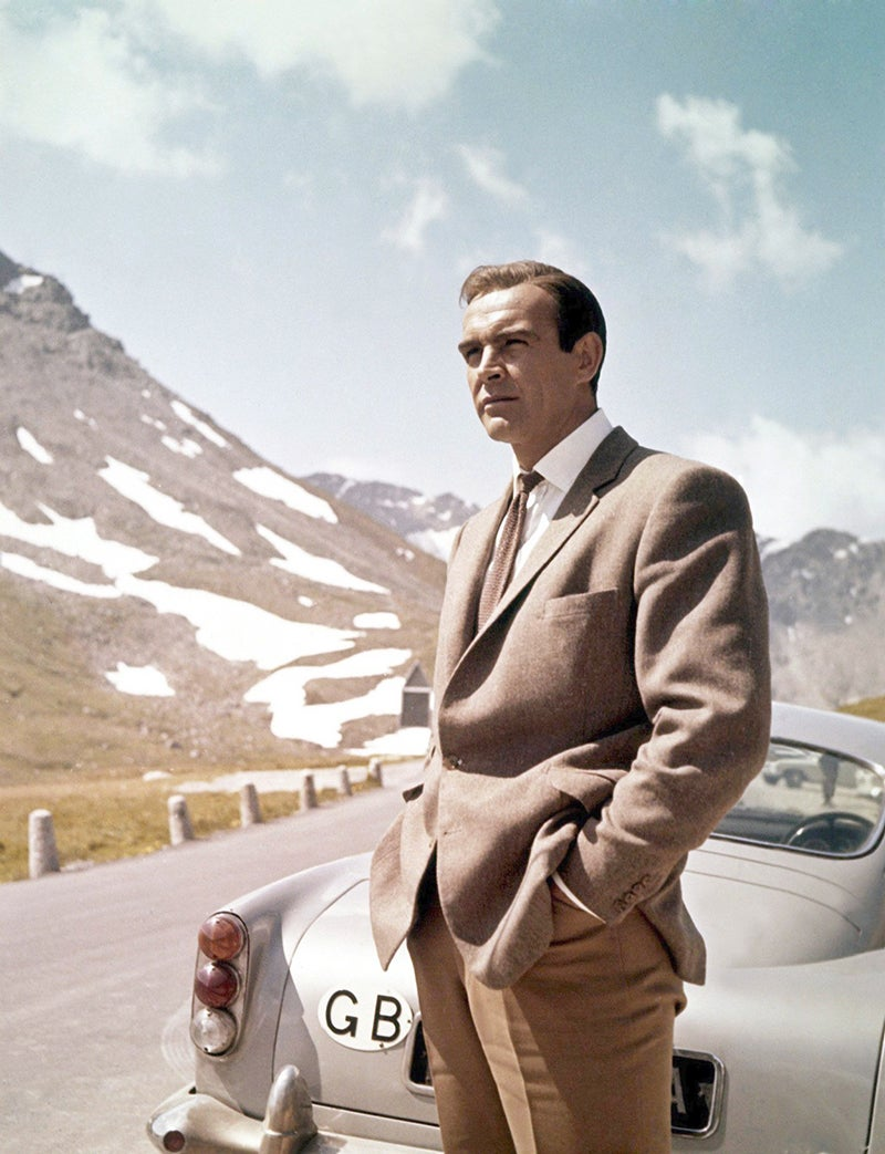 James Bond 007 Sean Connery On Set In Scotland