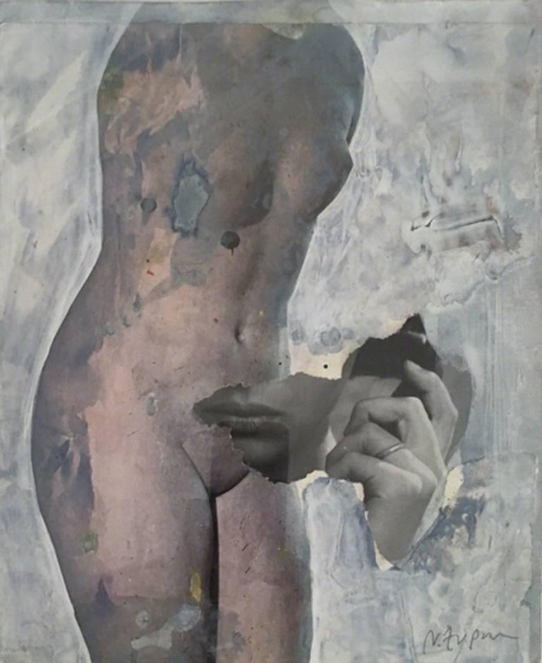 Crazy He Calls Me, Enlarged Photo Print, 2015 - Gray Figurative Print by Natasha Zupan