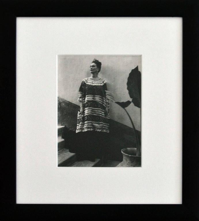 Frida Kahlo- Casa Azul Coyoacan, Mexico Vintage B&W Photography Framed