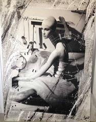 Seated Ballet Mixed Media mounted on Aluminum Print