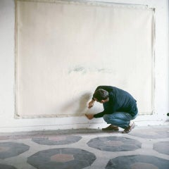 Untitled #15 Cy Twombly in Rome- Portrait Color Photograph