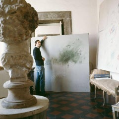 Untitled #24 Cy Twombly in Rome- Portrait Color Photograph