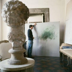 Untitled #30 Cy Twombly in Rome- Portrait Color Photograph