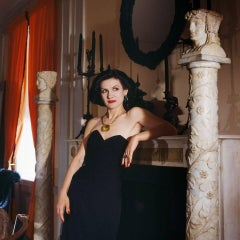 Paloma Picasso - Paloma and Jewellery, New York, 1985, Small Color Photograph