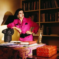 Paloma Picasso - Paloma in Pink, New York, 1985, Small Color Photograph