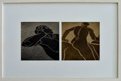 Greek Mosaics- Diptych Figurative Photography Framed