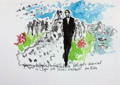 The wedding of Giovanna Battaglia, Capri 2016 (one of a kind figural painting)