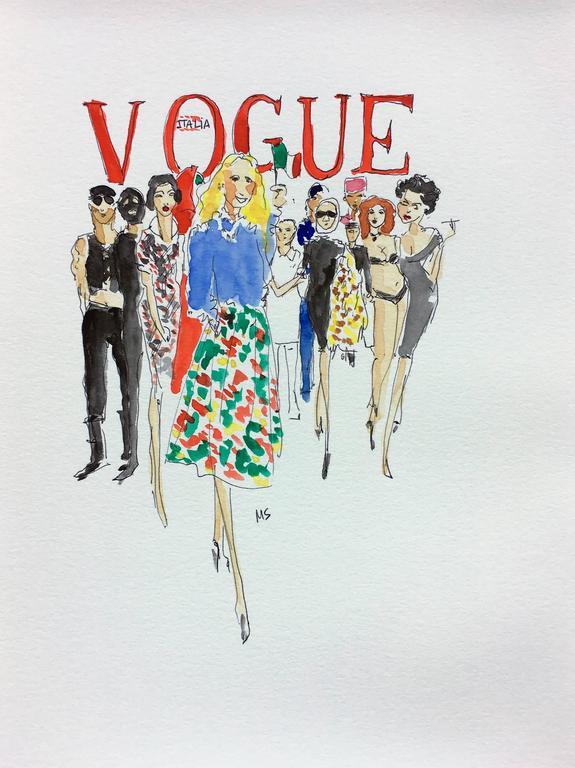 Franca Sozzani, Vogue Italia  - Art by Manuel Santelices