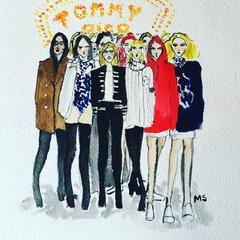 Tommy X Gigi Collection (one of a kind fashion painting)