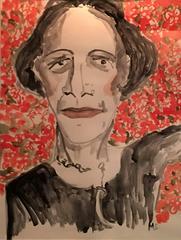 Diana Vreeland (one of a kind fashion painting)