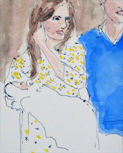 The birth of Prince George, Watercolor on Archival Paper, 2016