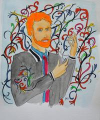 Prince Harry as Kehinde Wiley painting
