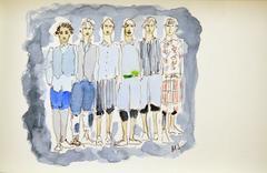 Commes des garçon (one of a kind fashion painting)
